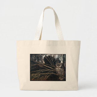Witch in Owl Form Large Tote Bag