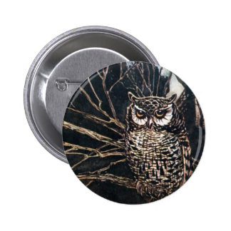 Witch in Owl Form Pinback Button