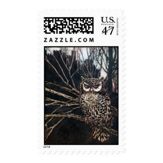 Witch in Owl Form Stamp