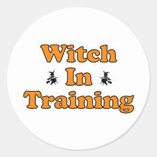 Witch In Training Classic Round Sticker
