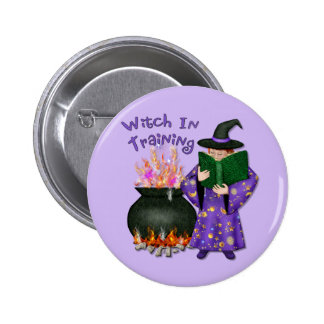 Witch in Training Pinback Button