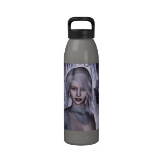 Witch In White Gothic Fantasy 3D Reusable Water Bottles