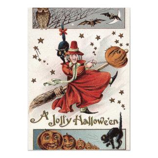 Witch Jack O Lantern Black Cat Bat Owl Card