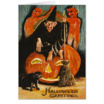 Witch Jack O Lantern Devil Demon Black Cat Cards
