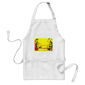 Witch Jack O' Lantern Owl Ghost Haunted House Adult Apron