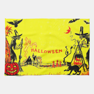 Witch Jack O' Lantern Owl Ghost Haunted House Towels