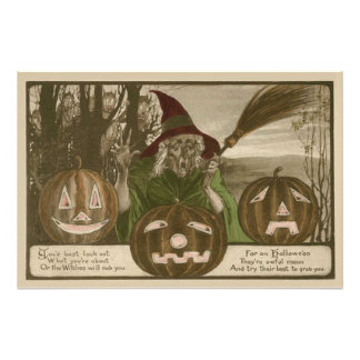 Witch Jack O' Lantern Pumpkin Goblin Photo Print