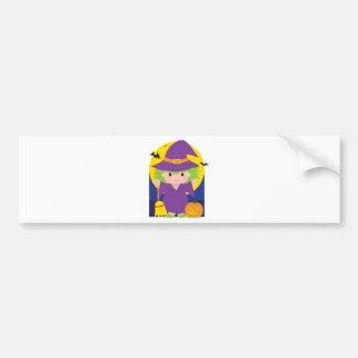Witch Kid Bumper Sticker