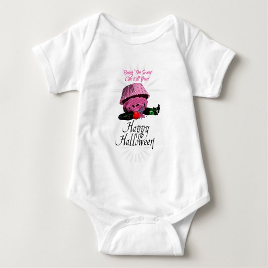 Witch killed by to cupcake baby bodysuit