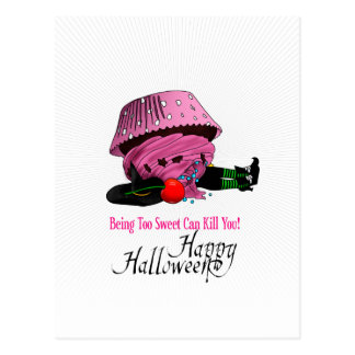 Witch killed by to cupcake postcard