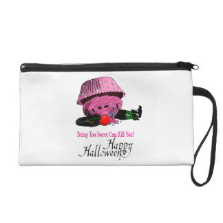 Witch killed by to cupcake wristlet purse