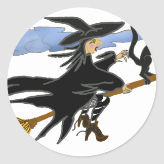 Witch Liddie and Hackamor Classic Round Sticker