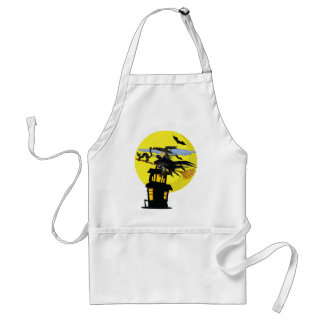 Witch Liddie and the Halloween Moon Adult Apron
