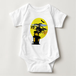 Witch Liddie and the Halloween Moon Baby Bodysuit