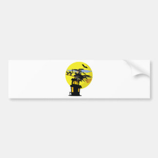 Witch Liddie and the Halloween Moon Bumper Sticker