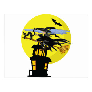 Witch Liddie and the Halloween Moon Postcard