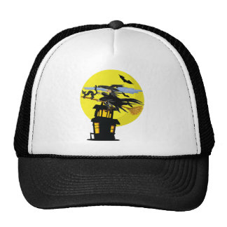 Witch Liddie and the Halloween Moon Trucker Hat