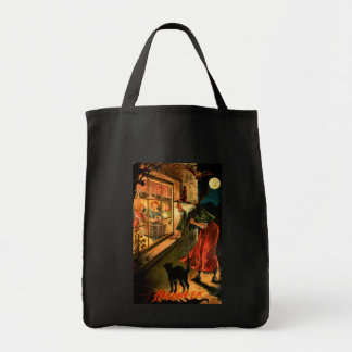 Witch Looking Through Window Tote Bag