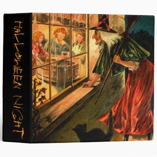 Witch Looking Through Window Binder