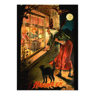 Witch Looking Through Window Card