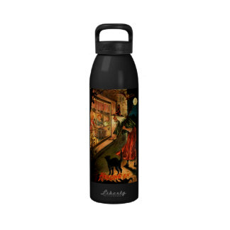 Witch Looking Through Window Drinking Bottle
