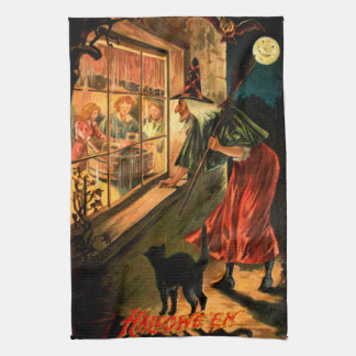 Witch Looking Through Window Hand Towel