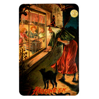 Witch Looking Through Window Magnet