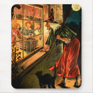 Witch Looking Through Window Mouse Pad