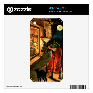 Witch Looking Through Window Decal For The iPhone 4S
