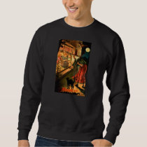 Witch Looking Through Window Sweatshirt