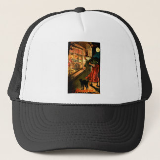 Witch Looking Through Window Trucker Hat
