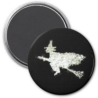 Witch 3 Inch Round Magnet