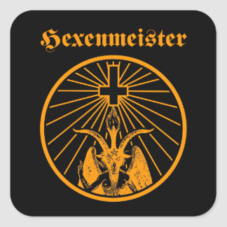 Witch master square sticker