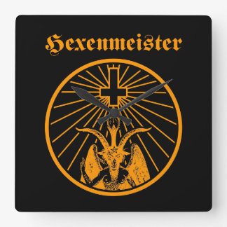 witch master square wall clock