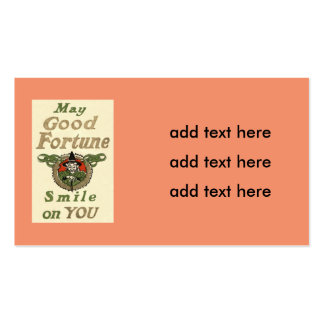 Witch May Good Fortune Smile On You Tribal Business Card
