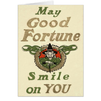 Witch May Good Fortune Smile On You Tribal Card