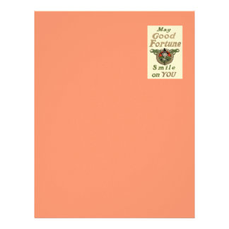 Witch May Good Fortune Smile On You Tribal Letterhead
