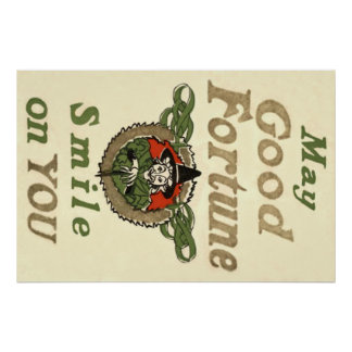 Witch May Good Fortune Smile On You Tribal Poster