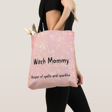 Witch Mommy pink sparkly design Tote Bag