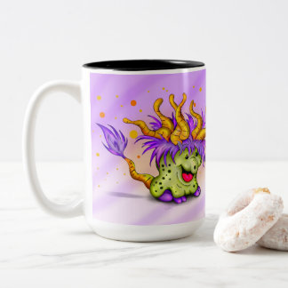 WITCH MONSTER CARTOON Two-Tone Mug 1