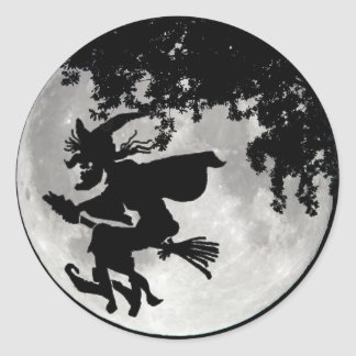 Witch Moon Classic Round Sticker