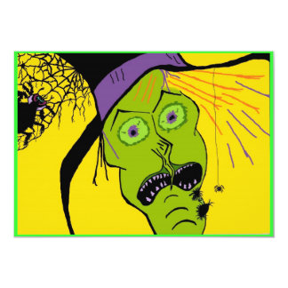 WITCH n SPIDERS HALLOWEEN INVITATIONS