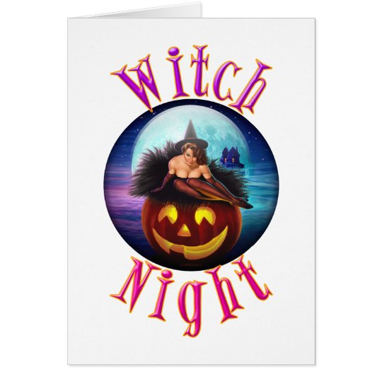 Witch Night Card