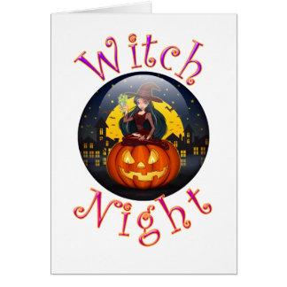 Witch Night Card