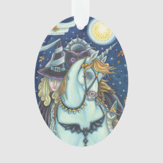 WITCH OF SLEEPY HOLLOW Halloween ORNAMENT Oval