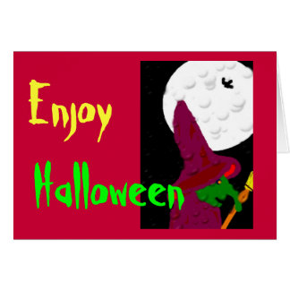 Witch of the night greeting cards