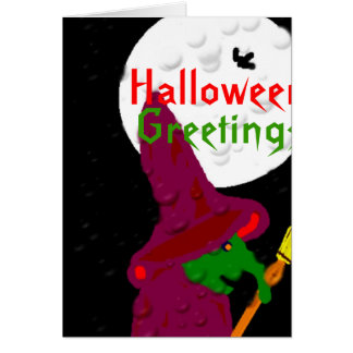 Witch of the night greeting card