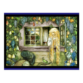 Witch Offering Pear not Apple Postcard