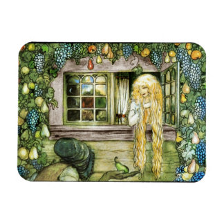 Witch Offering Pear not Apple to Princess Rectangular Photo Magnet