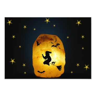 Halloween Themed Witch on a broom card